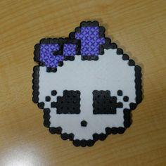 Monster High skull perler beads by byte_it