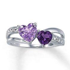 2 Purple Heart Rings