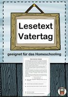 Lesetext Vatertag – Unterrichtsmaterial im Fach Fachübergreifendes Letter Board, Lettering, Philosophy, Agriculture Farming, Differentiation, School Social Work, Home Economics, Pictorial Maps, Physical Science