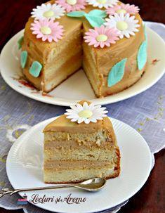 Cremă caramel cu mascarpone pentru torturi și prăjituri - Lecturi si Arome Creme Caramel, Vanilla Cake, Food And Drink, Biscuit, Sweets, Smoothie, Desserts, Recipes, Rain Painting