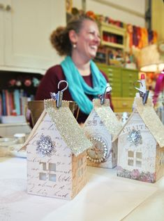 Paper House Luminaries with ButtonLovers.com - Cute idea
