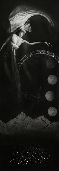 Cycles of the Moon Priestess Esbat Lunar Magick Witchcraft Goddess Pagan Spells Wiccan, Magick, Witchcraft, Deep Books, Monochrome, Ange Demon, Sun Moon Stars, Foto Art, Three Rivers