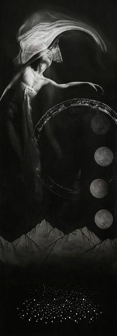 Cycles of the Moon Priestess Esbat Lunar Magick Witchcraft Goddess Pagan Spells