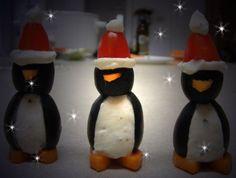 Botana de pingüinos Navideña