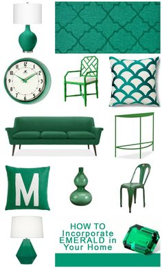 How to incorporate emerald into your home decor tipsaholic.om #color #emerald #decor