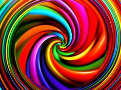 Swirling Psychedelic colour