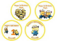Despicable Me 2 Birthday Cupcake Toppers  $3.99 available at www.partyexpressinvitations.com