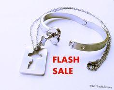 FLASH SALE BDSM Real locking Couples Set bracelet by TwistedSkrews
