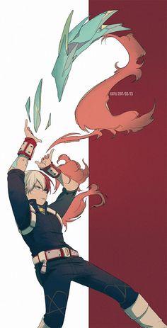 My Hero Academia (僕のヒーローアカデミア) - Shouto Todoroki (轟 焦凍) Boku No Hero Academia, My Hero Academia Manga, 5 Anime, Anime Guys, Bakugou Manga, Manga Comics, Anime Lindo, Hero Wallpaper, Tumblr