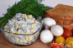 Salata de ciuperci cu maioneza Dairy, Eggs, Cheese, Breakfast, Food, Vegetarian, Festivus, Salads, Morning Coffee