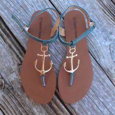 Mid-Week Shopping on Sale! summer sandals ~ anchor ~ sign ~ beach sandals ~summer shoes ! summer outfits