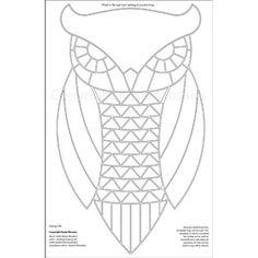 Kasia Mosaics Classes » Template Download: Owl Design #7 (Foxy Owl) Bird Template, Owl Templates, Heart Template, Butterfly Template, Applique Templates, Flower Template, Crown Template, Applique Patterns, Owl Mosaic
