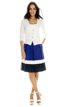 liz claiborne snap cardigan and skirt