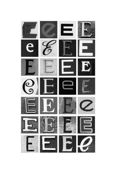 The Letter E | Typography