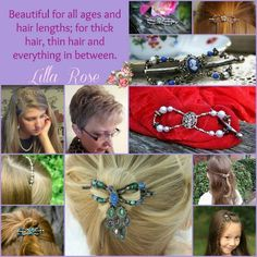 Lilla Rose Flexi Hair Clips.  If you haven't seen all we have to offer, take a look!  www.lillarose.biz/twl
