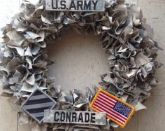 Support our troops with a customized wreath.