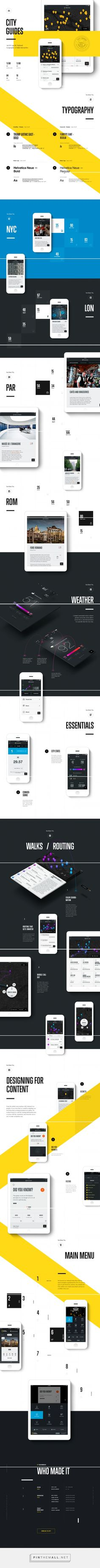 National Geographic City Guides iOS App on Behance - created via http://pinthemall.net