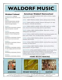 Music in the Waldorf School, Waldorf homeschool by grade