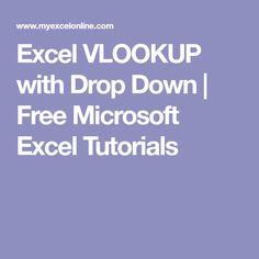 Excel VLOOKUP with Drop Down   Free Microsoft Excel Tutorials