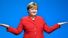 """German Chancellor Angela Merkel signaled support Tuesday for a nationwide ban on full-face veils worn mainly by Muslim women – a move that had an American Islamic advocacy group crying foul, claiming it impedes freedom and increases """"Islamophobia. German People, Viral Trend, Egypt Today, Westerns, Polo Ralph Lauren, Germany, Suit Jacket, Leather Jacket, Angela Merkel"""