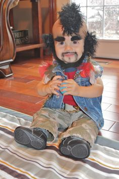 Funny Kids costumes: Mr. T (Do you think your baby would keep this on??) #Halloween