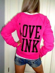 Vs pink hoodie♥