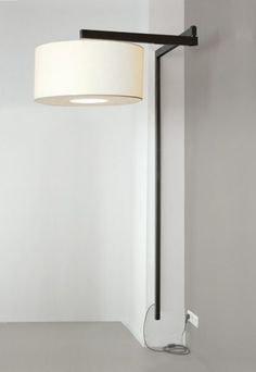 India Mahdavi — great swinging wall light lamb white black