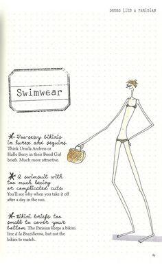 Parisian Chic: A Style Guide by Inès de la Fressange   Swimwear Faux Pas