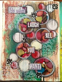 Painting freely makes me happy - art journal page #art #acrylic #artjournal #artjournals #artjournaling #artjournalpage #color #colour #circles #collage #dylusionsjournal #journal #layers #decoart #decoartprojects #alcoholink #alcoholinkart #medialine #mixedmedia #mixedmediaart #paint #pen