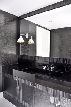 #Contemporary #bathroom #crocodile #style