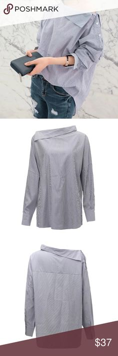 """International Women's Day Price ! SPRING ARRIVAL ! This will be a basic for next season ! One size. Color as seen in picture. Bust: 48"""" Length: 27.6"""". Tops Blouses"""