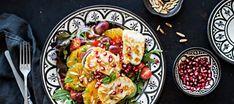 Appelsiini-halloumisalaatti | Pääruoat | Reseptit – K-Ruoka Kung Pao Chicken, Food Inspiration, Cobb Salad, Ethnic Recipes, Cake, Kuchen, Torte, Cookies, Cheeseburger Paradise Pie