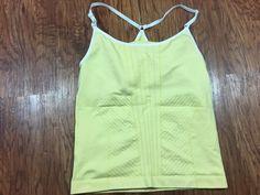db261188d5 Nike Dri-Fit Women s Seamless Racerback Bra Top Tank M L Yellow Medium Large