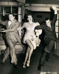 laughter and dancing Phil Silvers Rita Hayworth Gene Kelley