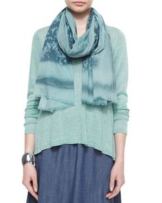 Cotton Spray Scarf, Dragonfly  by Eileen Fisher at Neiman Marcus.