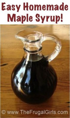 Easy Homemade Maple Syrup. This DIY Recipe tastes SO yummy and is a huge money saver. Perfect for fall pumpkins recipes.