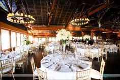 Flowers by Artfully Arranged - all white fall wedding at Angus Barn Pavilion
