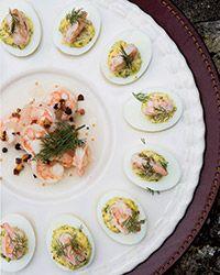 Deviled Eggs with Pickled Shrimp | Food & Wine