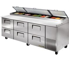 TRUE Refrig Pizza Prep Table,Dallas Restaurant Equipment & Supplies… Commercial Kitchen Design, Commercial Appliances, Commercial Kitchen Equipment, Home Depot, Restaurant Kitchen Equipment, Restaurant Discounts, Food Equipment, Pizza Kitchen, Restaurant Design