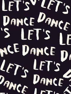 typography | let's dance hand lettering by Daniela Dahf Henríquez