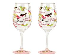 $15.92-$17.50 Partyware to go- anywhere and anytime. Set of 2 stylish acrylic wine glasses decorated in Lolita patterns add fun to any occasion and make a great gift for so many occasions. Wine cocktail recipe on the bottom of every glass. Each glass is 8-3/4-Inch tall and 3-1/2-Inch diameter; holds 16-Ounce. Whatever your guests are drinking will taste even better in these glasses. Hand washing ...