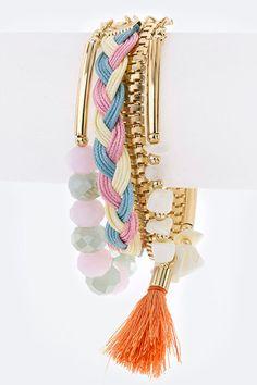 Layered Boho Tassel Bracelet