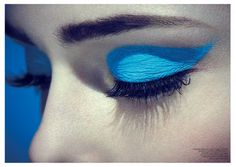 Coco Rocha by Jason Hetherington for Glass #13 Spring 2013 blue graphic eyeliner1
