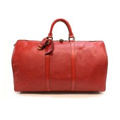 Louis Vuitton Keepall 50  Epi Handle bags Red Leather M42967