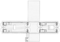 Floorplan of the Zachary dog-trot home by Stephen Atkinson Architecture