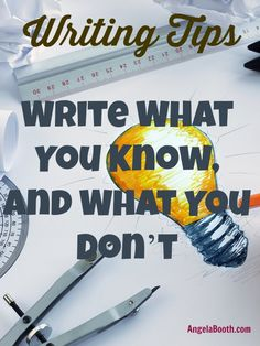 Writing Tips: Write What You Know, and What You Don't -- you know much more than you think you do -- discover how you can write about ANYTHING: http://www.fabfreelancewriting.com/blog/2014/07/15/writing-tips-write-know-dont/
