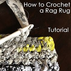 How to crochet a rag rug tutorial  - I've made these from t-shirts and from some pants - definitely fun to do, fast to make, and what's more awesome than a crocheted rug you made yourself, especially when it used the remains of your favorite old t-shirts, pants, sheets, jeans etc?