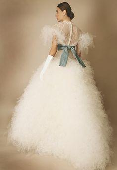 Fluffy wedding dress?