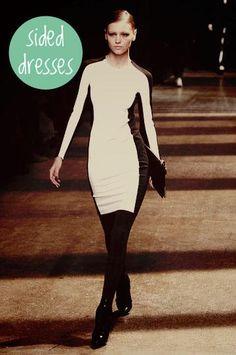 "fall trend - ""skinny"" sided dresses"