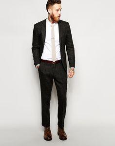 ASOS Slim Fit Suit Jacket In Harris Tweed Fabric